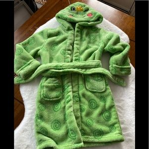 Kids Frog Fleece Robe